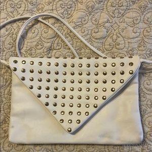 Crossbody white stud bag